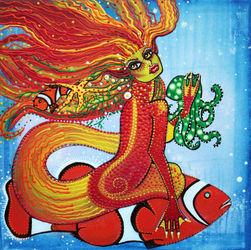 Clownfish-mermaid-by-laura-barbosa