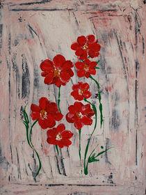 Zarte Blüten in rot by Gabriele  Schloß