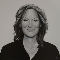 Meryl Streep painting by Paul Meijering