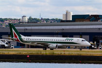 Alitalia  Embraer ERJ-190 London City Airport by David Pyatt