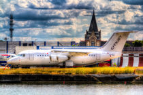 A CityJet BAE RJ 85 at London city Airport by David Pyatt
