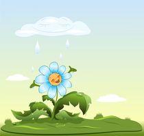 Flower rejoices rain  von larisa-koshkina
