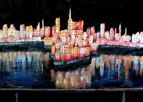 Kleine Stadt bei Nacht by konni