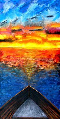 Bootsfahrt in den Sonnenuntergang von konni