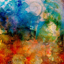 Aquarell Major Blue No 3 von Wolfgang Rieger