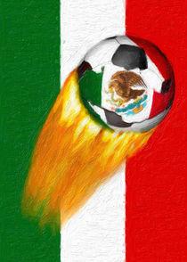Flaming  Mexico Soccer Ball von gravityx9