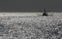 Fischkutter beim Fang von Peter Rohde