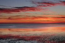 Sonnenuntergang Wattenmeer von Peter Rohde