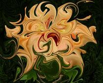 Hibiscus Wirbelbild gelb von Tatjana Wicke