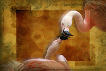 Flamingos in Love by Carol Vega