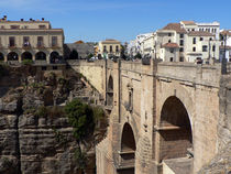 Brücke in Ronda, Bridge in Ronda, Puente de Ronda  by Sabine Radtke