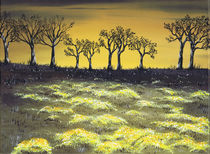 Twilight  Meadow. by Kenneth Clarke