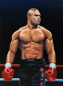 Alistair Overeem painting von Paul Meijering