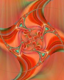 Orange fractal by Christine Bässler