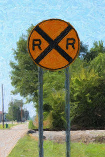 Railroad Crossing Sign by gravityx9