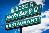 Bozo's Hot Pit Bar-B-Q Sign by Jon Woodhams