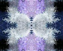 Wirbelbild blau-lila-weiß by Tatjana Wicke