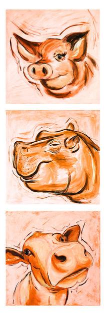 Das orange Trio by Annett Tropschug