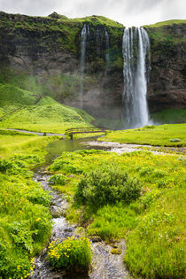 Island Iceland Seljalandsfoss Wasserfall Waterfall von Matthias Hauser