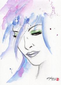 woman face by Rodrigo Chaem