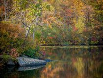 Ramapo Lake in the fall by Jim DeLillo