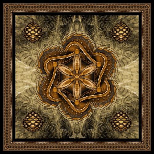 The-flower-of-life-sepia-framed