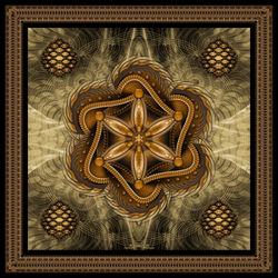 The-flower-of-life-sepia-framed