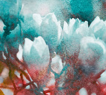 Magnolien cyan ockerrötlich alt von Wolfgang Rieger