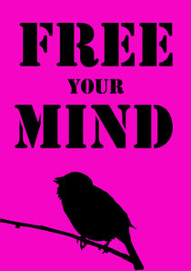 Typographic Print, free your mind   by Lila  Benharush