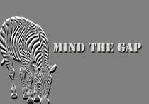 Mind the gap poster  von Lila  Benharush