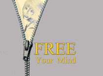 Free your mind wall art decor  von Lila  Benharush