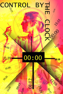Clock control,Photography art  von Lila  Benharush