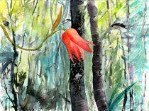 Orchidee orange, Borneo, 2014 by Eva Pötzelsberger