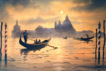 Sunset On The Grand Canal Venice by bill holkham
