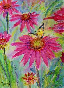 Echinazea with Butterfly von Ingrid  Becker