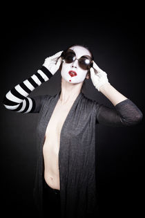 Female mime in round sunglasses  by Igor Korionov