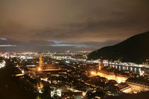 Heidelberg at night, from the castle by atari-frosch
