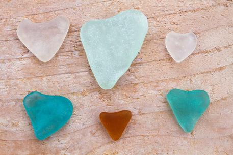 Seaglass-hearts