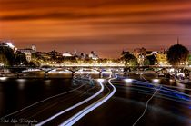 paris by night river seine von Rabah R. KEBBI