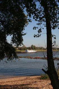 White ship on river Rhine by atari-frosch
