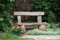 A bench in the park by atari-frosch