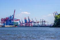 Burchardkai Hamburger Hafen Containerterminal von Dennis Stracke