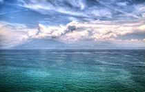 Blick auf den Gardasee mit dramatischen Effekten by Gina Koch