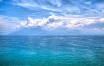 Blick auf den Gardasee mit dramatischen Effekten von Gina Koch