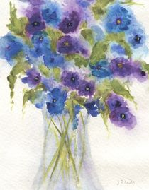 Blue Violet Pansies by Jamie Frier