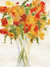 Yellow-orange-flower-vase