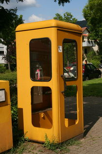 Yellow phone booth by atari-frosch