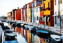 Venice, Burano island canal  von Tania Lerro
