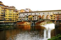 Old bridge (Ponte Vecchio), Florence, Italy von tanialerro