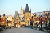 Charles Bridge and Lesser Town Tower by Tania Lerro